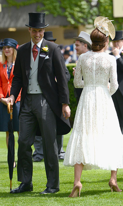 Her husband Prince William looked just as dashing in his top hat and tails. 