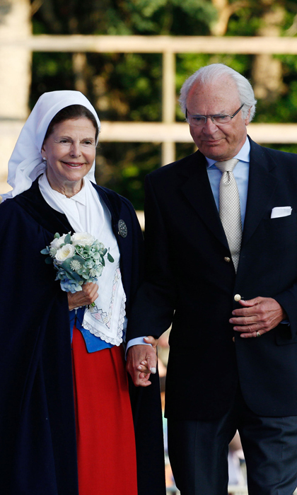 The proud parents celebrated the 38th birthday of their daughter Victoria, Crown Princess of Sweden. A special outdoor concert was held to mark the occasion, which Victoria attended with her husband Prince Daniel and young daughter Estelle, then 3, who waved adorably to crowds during the family outing.