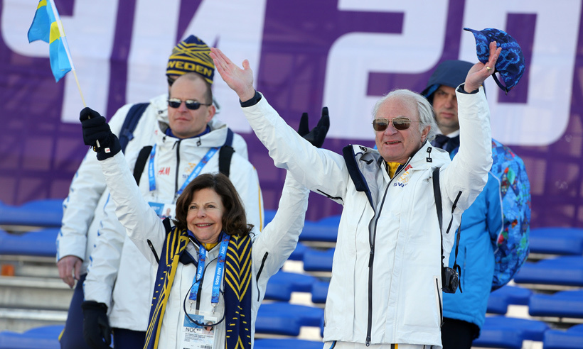 The Olympics will always hold a special place in the hearts of Carl and Silvia and the royal couple looked delighted to be attending the 2014 winter games in Russia, where they enthusiastically cheered on their home team, who took home a gold medal in cross-country skiing. 
