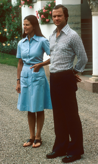 One month into their lasting marriage, Silvia and Carl seemed relaxed in one another's company and at ease with their royal roles. Silvia has modernized the position of Queen during her time on the throne and has enjoyed an equal relationship with her husband. 