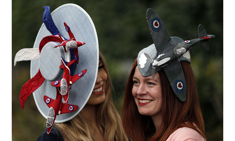 Aviation-themed hats made a splash on Ladies Day.  