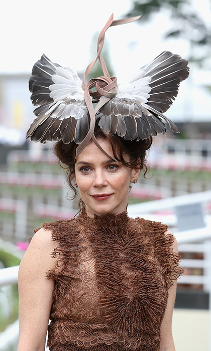 "Actress <strong>Anna Friel</strong> took ""a feather in your cap"" to a whole new level. 