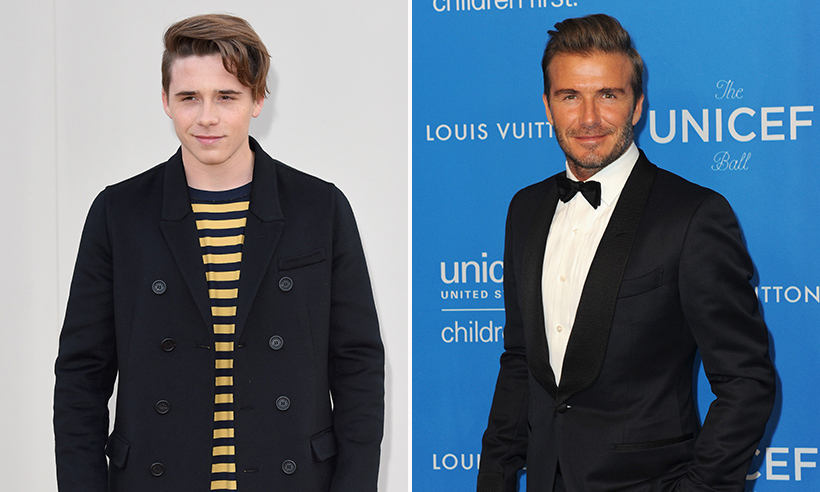 <h2> David and Brooklyn Beckham</h2>