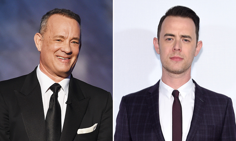 <h2>Tom and Colin Hanks</h2>