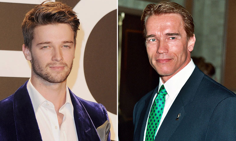 <h2>Arnold and Patrick Schwarzenegger</h2>
