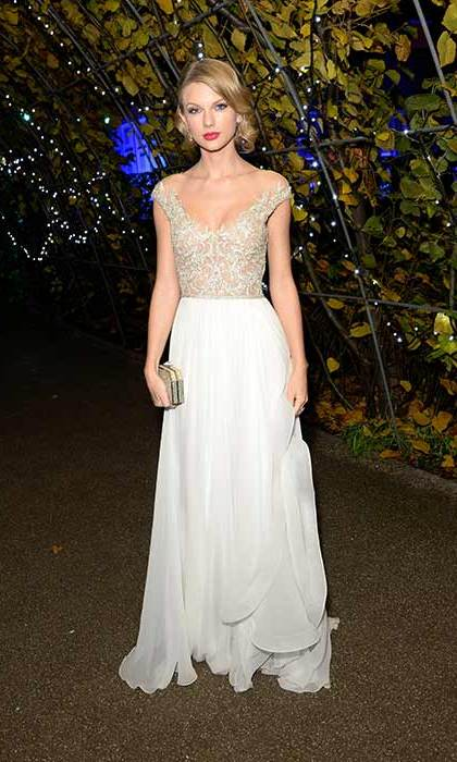 "Heading to a Winter gala in London in 2013, the ""Love Story"" singer wowed in a princess-esque dress.
