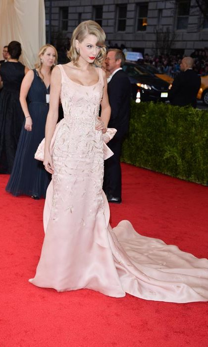 Pretty in pale pink at the Met Ball.