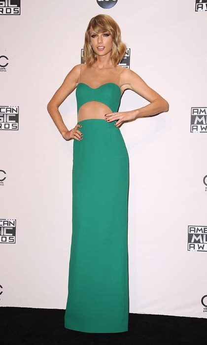 Taylor loves a good crop top - she can even turn one into an evening gown!