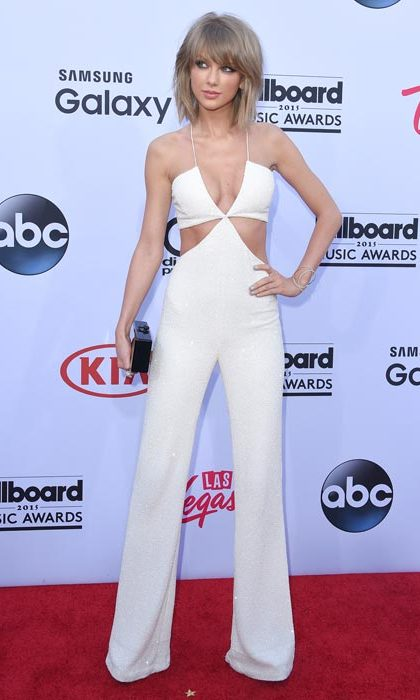 Rocking a cutout flared jumpsuit at the Billboard Awards.