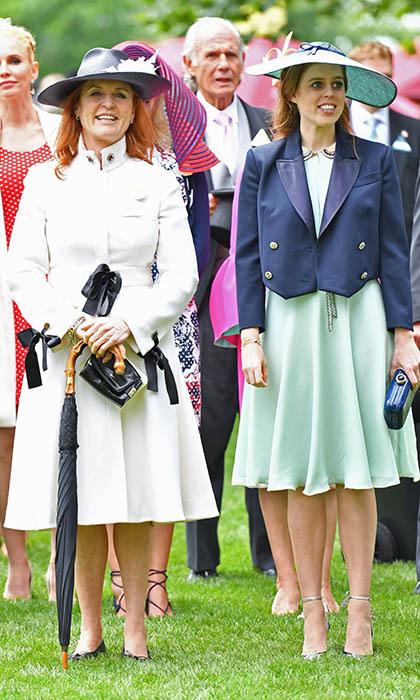 On Friday (Jun. 17) Princess Beatrice and Sarah Ferguson enjoyed a fun mother and daughter day out at the races. 