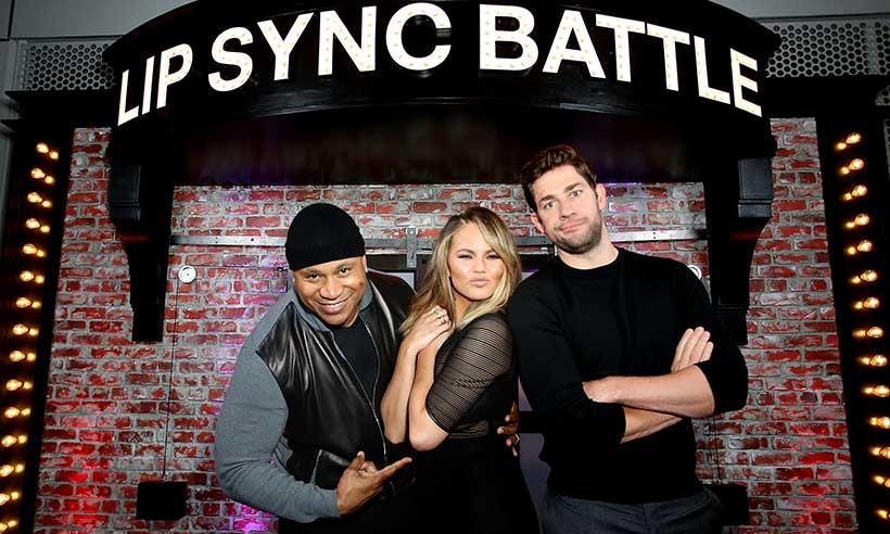 <i>Lip Sync Battle</i>'s LL Cool J and Chrissy Teigen reunited with one of the show's best contestants John Krasinski at a special Emmy event in North Hollywood. 
