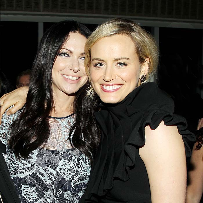 <i>Orange is the New Black</i>'s Laura Prepon and Taylor Schilling were all smiles at the show's fourth season premiere in New York. 