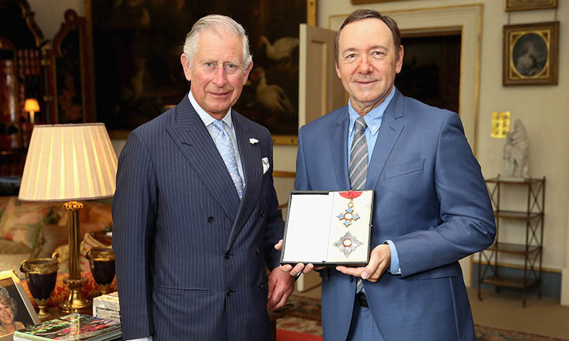 Prince Charles presented <i>House of Cards</i> star Kevin Spacey with an honorary knighthood on behalf of the Queen. The actor received the honour for his services to the theatre, arts education and international culture. 