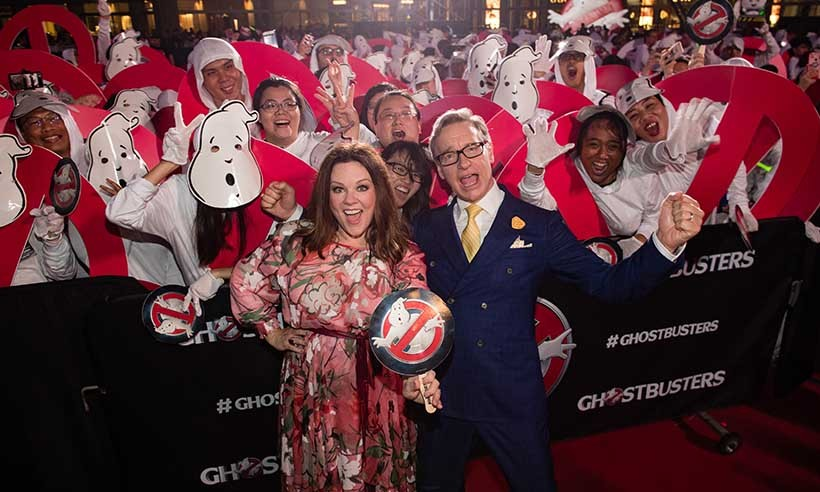 "Melissa McCarthy and writer/director Paul Feig helped celebrate a new Guinness World Record being set in Singapore. Fans of the <i>Ghostbusters</i> franchise rallied together to be crowned the ""largest gathering of people dressed as ghosts at a single venue."" 