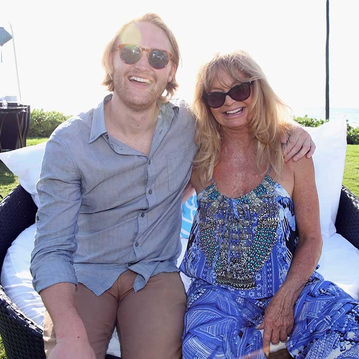 Actor Wyatt Russell had his biggest fan, his mother Golden Hawn, on his arm as he received the 2016 Maui Film Festival Rising Star Award in Hawaii. 