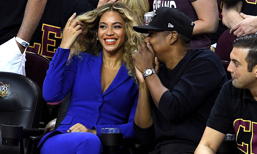 Beyoncé stole the show at Game 6 of the NBA finals in this electric blue blazer and trouser combo by Altuzarra. Even basketball super fan Jay Z couldn't keep his eyes off the bootylicious singer.  