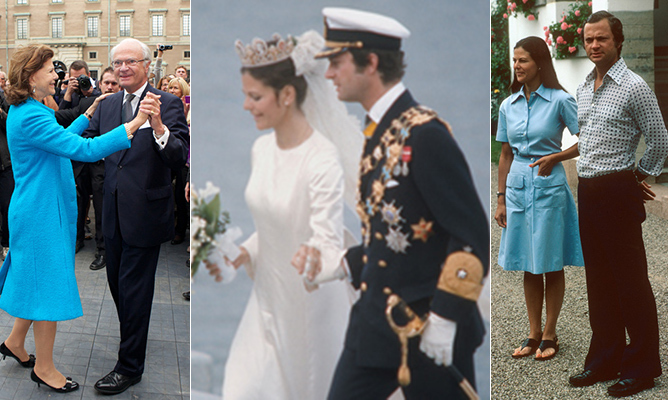 "Right from the start their relationship was an exceptional one. Crown Prince Carl Gustaf met his future bride in the summer of 1972 at the Olympic Games in Munich. The pair ""clicked"" right away, according to the now-King, but Sofia, an interpreter who speaks six languages, had no royal blood, which made her an unsuitable choice in the eyes of then-King Gustaf VI Adolf. 