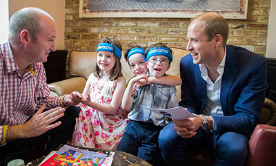 The Duke of Cambridge joined a Heads Together Father's Day breakfast.