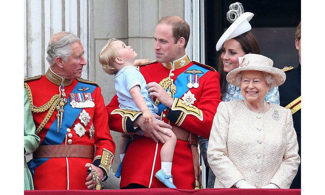 For William, Trooping the Colour in 2015 was very special. It was the first time that he was accompanied on the balcony by his son, who seemed fascinated by the RAF flypast.