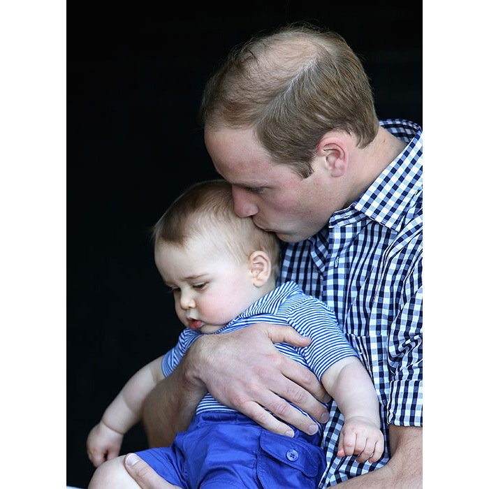 During their tour of Australia in 2014, the royal couple took Prince George to Sydney's Taronga Zoo and dad William couldn't help but kiss his adorable son, who was on his best behaviour.