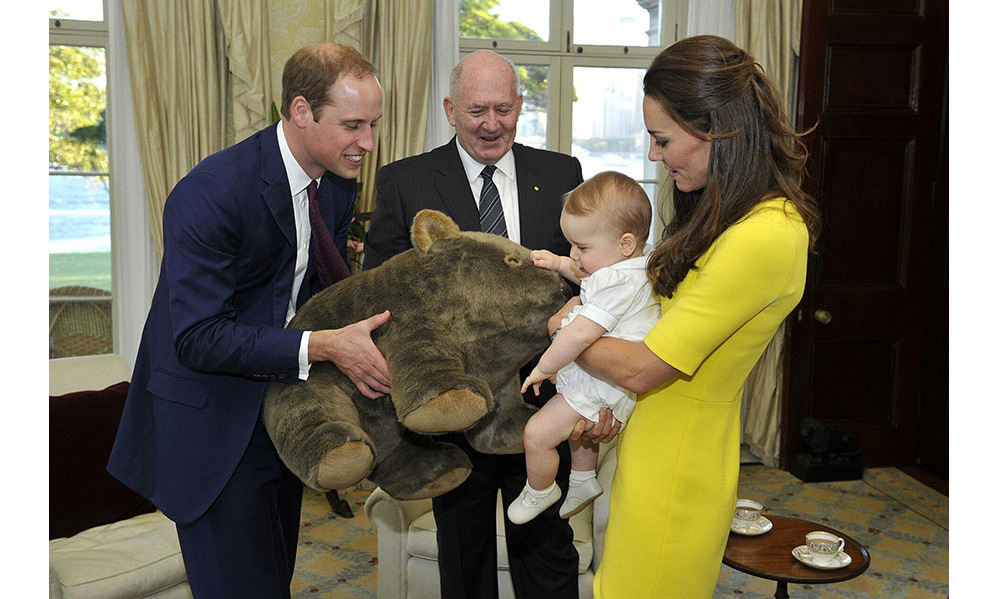 It was the couple's first overseas tour with Prince George and we witnessed a lot of cute family moments, like when the nine-month-old was given a huge cuddly wombat toy - and he seemed to love it!