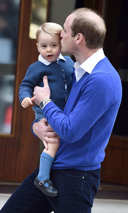 <p>Two years later William took Prince George to meet his new sister, Princess Charlotte, who was born on 2 May.</p>