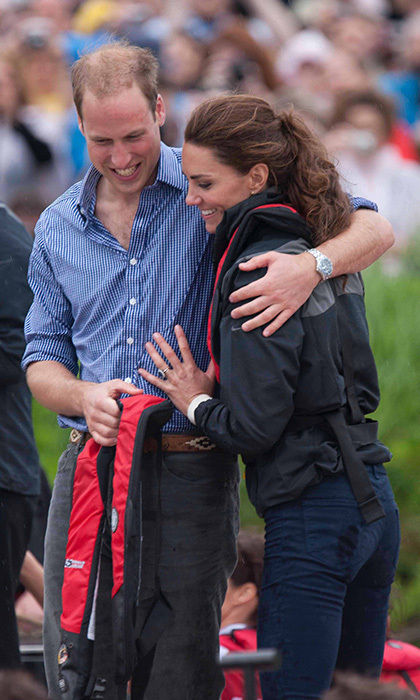 "<p>During their royal tour of Canada later that year, Kate said of William: ""I'm very, very lucky. He looks after me as much as possible.""</p>