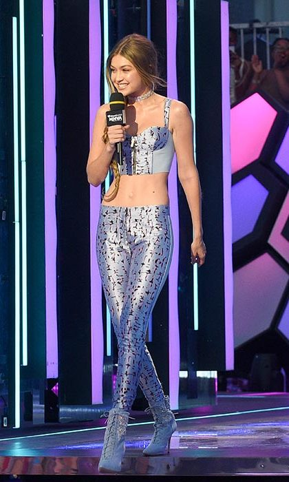 The 21-year-old hosted the iHeartRadio Much Music Video Awards in Toronto.