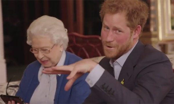 The monarch recently starred in a funny video with Prince Harry on Instagram.