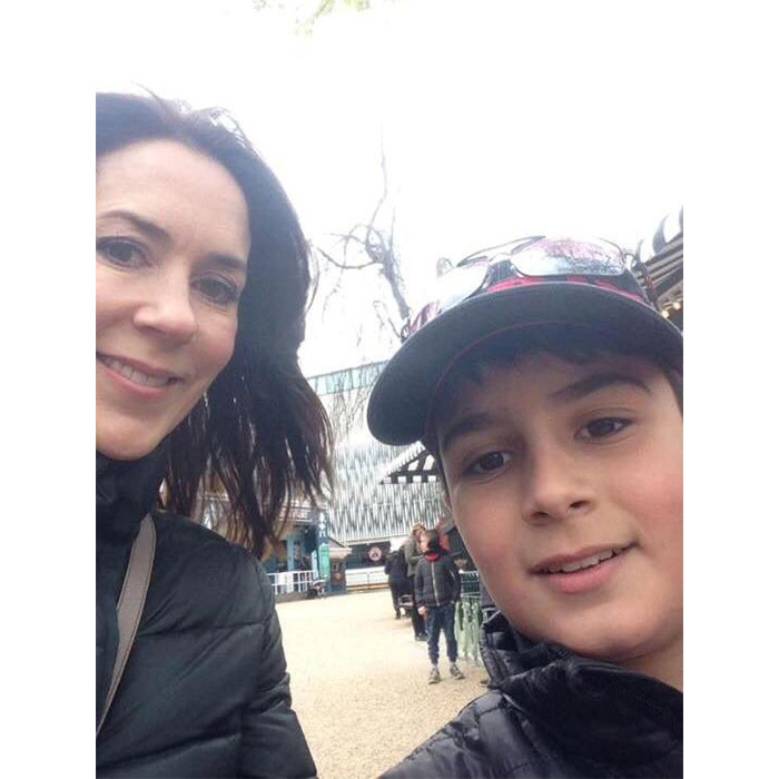 Crown Princess Mary recently posed for a selfie with a young fan.