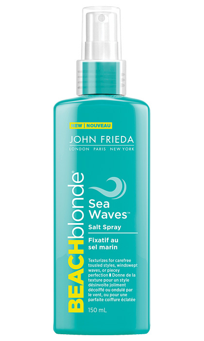 <strong>John Frieda Beach Blonde Sea Waves Salt Spray</strong>, $11, at select food, drug and mass retailers
