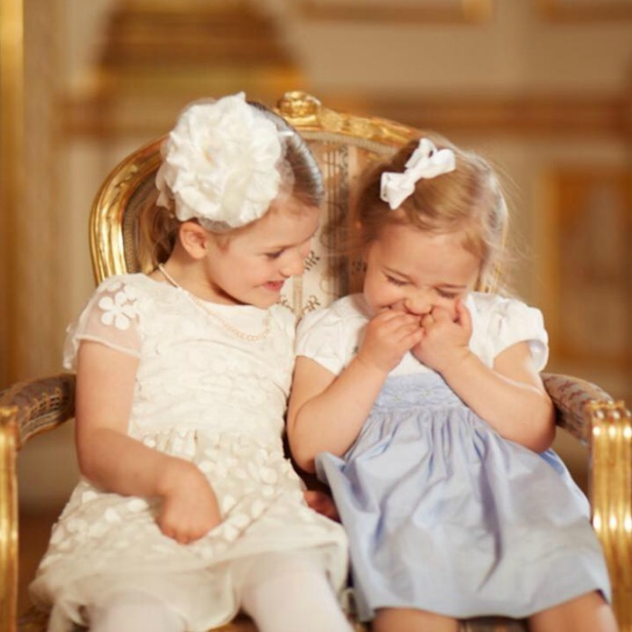 """I will never forget the joy on the faces of Estelle and Leonore while they were together at Prince Oscar's christening,"" Queen Silvia said of her granddaughters.