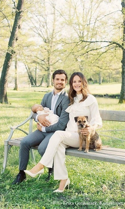 Carl and Sofia welcomed their son Prince Alexander in April.