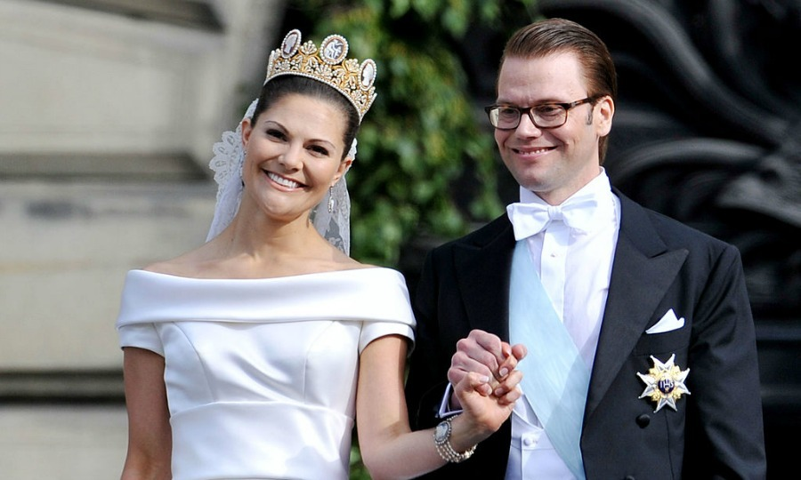 Crown Princess Victoria wore the same tiara on her wedding day to Prince Daniel as her mother did — which also happened to be Silvia and Carl's 34th wedding anniversary.
