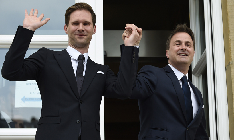 Luxembourg's current Prime Minister, Xavier Bettel (left), was the first gay EU leader to marry when he tied the knot with partner Gauthier Destenay in 2015. Xavier took political office in December 2013 after previously serving as mayor of the nation's capital, Luxembourg City.