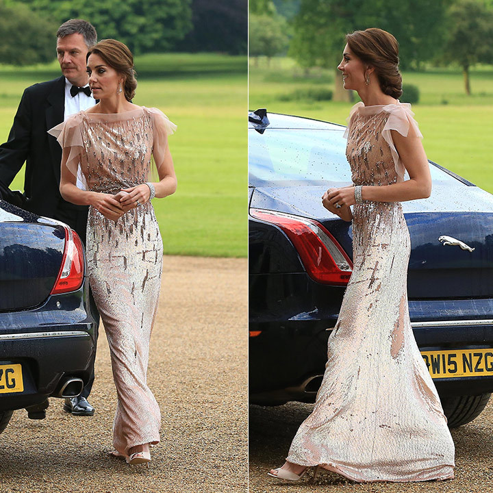 Kate turned to an old favourite for the East Anglia's Children's Hospices' Nook Appeal dinner in June 2016. The mother of two wore the same sequin-embellished Jenny Packham number she stepped out in at ARK's 10th Anniversary Gala Dinner in London in June, 2011.