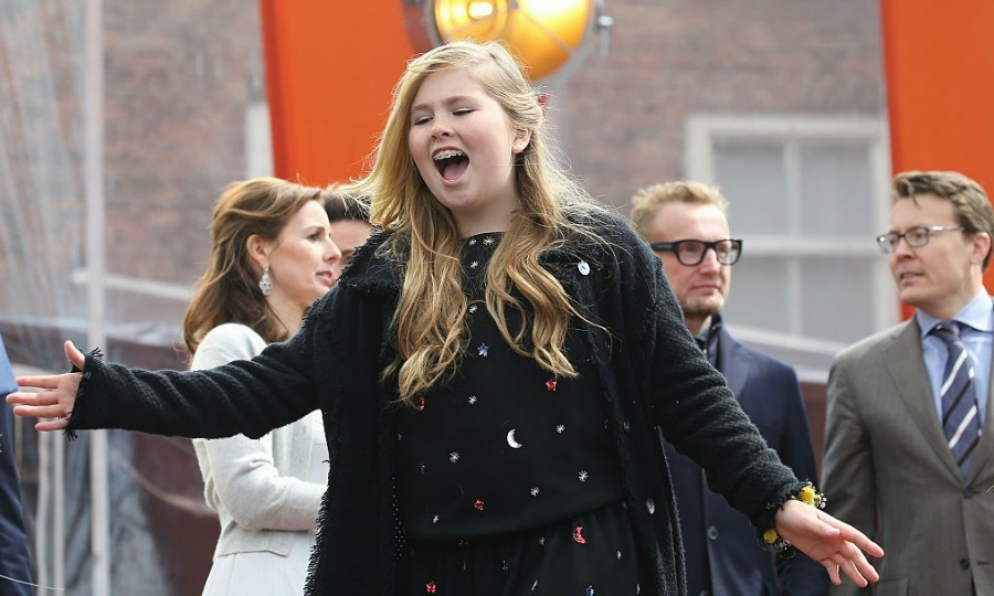 April 2016: Crown Princess Catharina-Amalia was expressive celebrating King's Day in Zwolle, Netherlands.