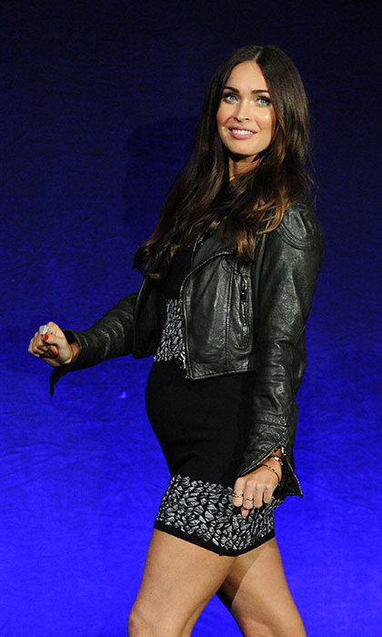 The star shocked fans when she showed off a baby bump at CinemaCon in April.  