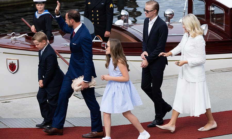 Mette-Marit has two children with her husband Prince Haakon and an elder son Marius from a previous relationship.