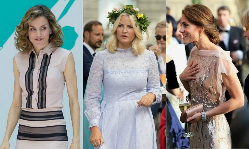 Click through our gallery to see how royals like Queen Letizia, Princess Mette-Marit and Kate upped the style ante this week...