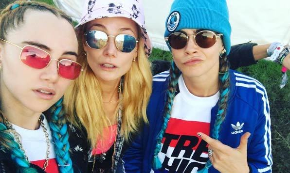 Sukie Waterhouse, Clara Paget and Cara Delevingne.