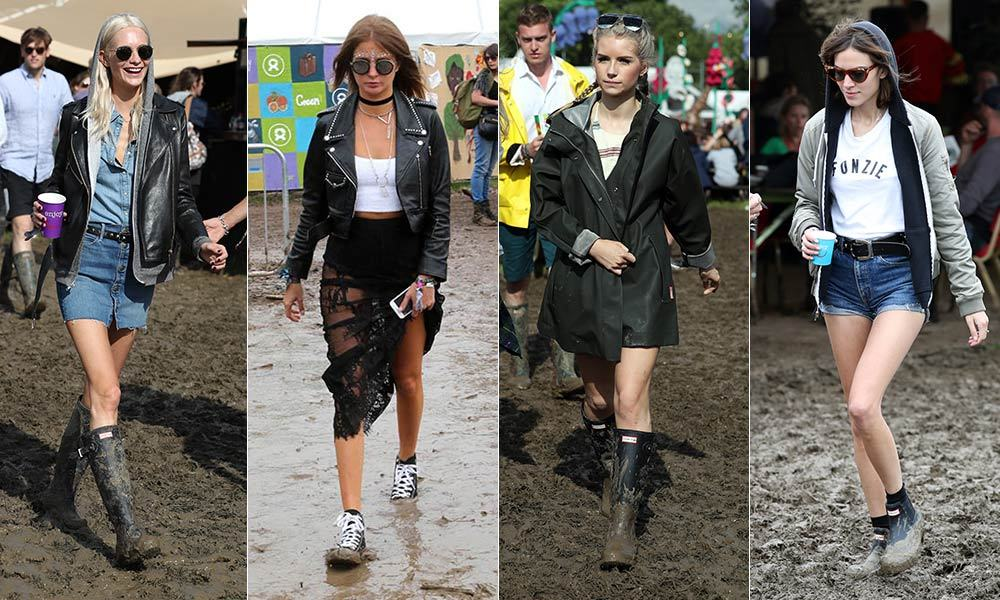 It's always a muddy affair, but that doesn't stop the UK's top fashionistas from making statements at the annual Glastonbury Festival. <br>Click through to see which style-savvy stars gave us major festival #goals at the 2016 event...