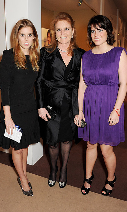 Sarah, Duchess of York with Princesses Beatrice and Eugenie.