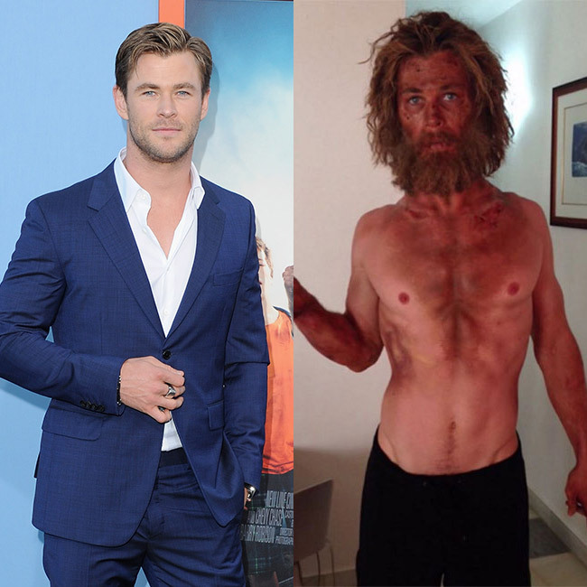 <h3>Chris Hemsworth for In <em>The Heart of the Sea</em>
