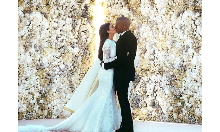 <h3>Kim Kardashian and Kanye West
