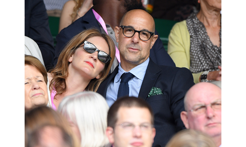 Stanley Tucci and his wife Felicity Blunt. 