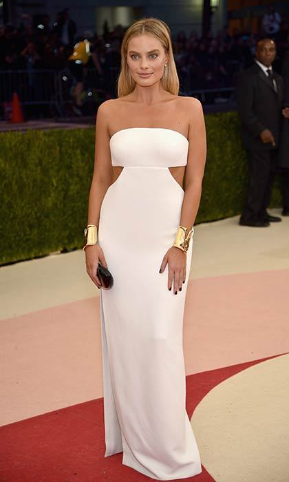 The actress wowed at the 2016 Met Gala in a white cut out Calvin Klein gown.