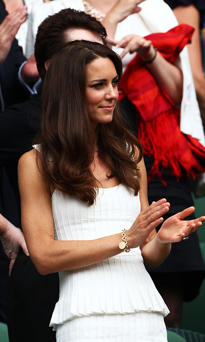 To attend her first Wimbledon as a married woman in 2011, the newly-titled Duchess of Cambridge made her debut in Temperley's Moraiah dress. From its tiered skirt to the petal detail on the straps. Kate's dress was a fashionable grand slam.  