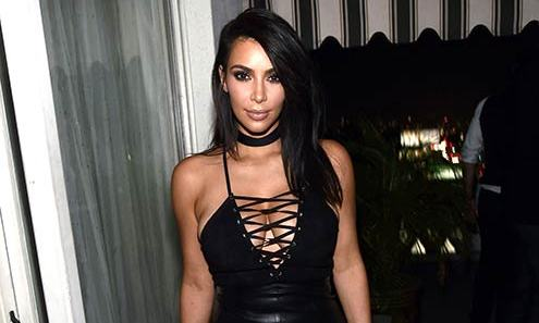 Kim Kardashian Flaunts Her Post Baby Weight Loss In Leather Lace Up