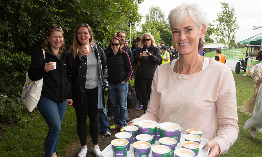"""I think I always say that I find it very stressful watching the boys, but I also find it quite stressful being in the grounds because it's so busy,"" said Judy.